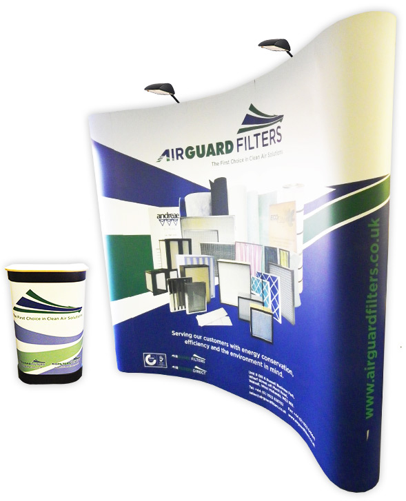3x3 Pop Up Display Stand Graphic Design
