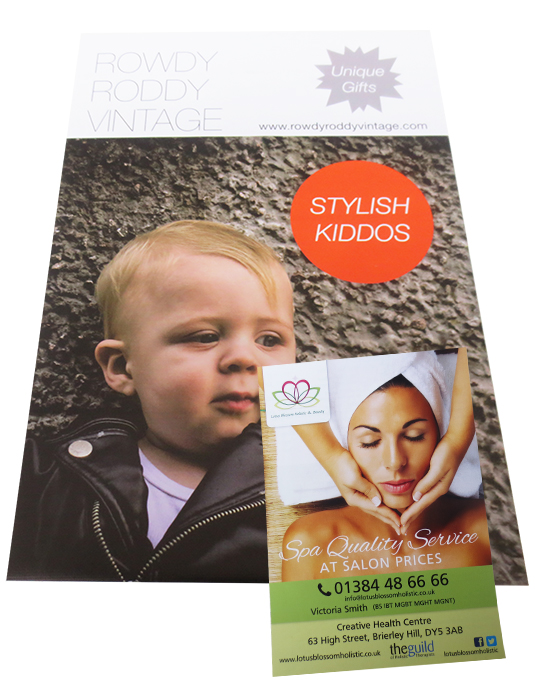 Examples of Posters & Leaflets